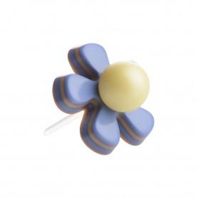 """Healthy fashion earring (1 pcs.) """"Hepatica Flower"""""""