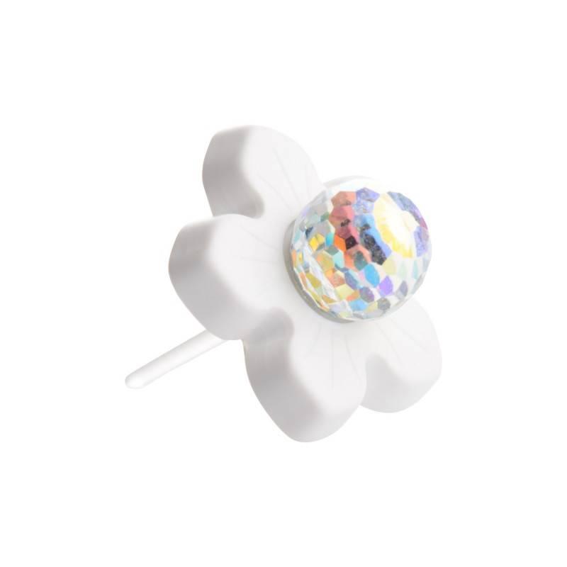 "Healthy fashion earring (1 pcs.) ""Aurora sky under Flower"""