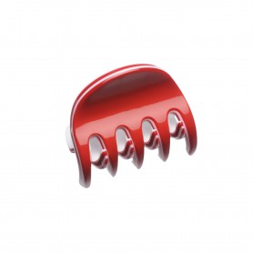 Very small size regular shape Hair claw clip in Marlboro red and white