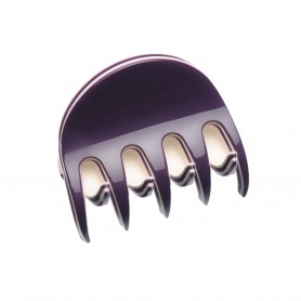 Small size regular shape Hair jaw clip in Violet and ivory