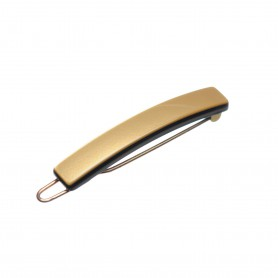 Very small size tiny and skinny shape Hair clip in Gold and black