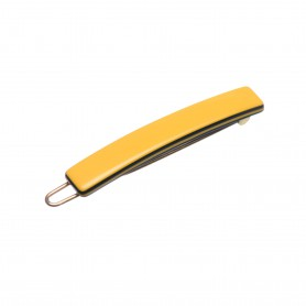 Very small size tiny and skinny shape Hair clip in Maize yellow and black