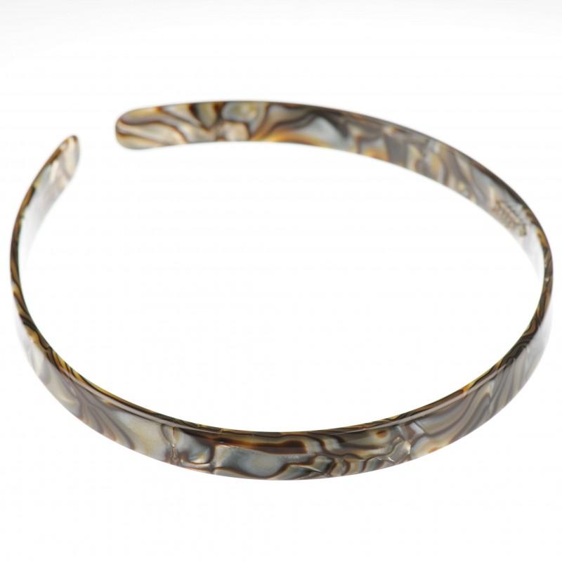 Medium size regular shape Headband in Onyx shiny finish