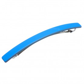 Medium size long and skinny shape Hair barrette in Blue and hazel