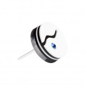 "Healthy fashion earring (1 pcs. ) ""Blue origin"""