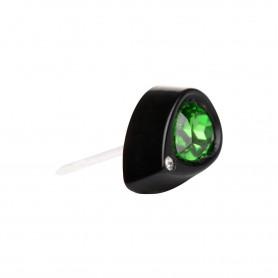 Small size drop shape Metal free earring in Black