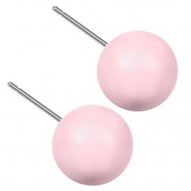 Very large size sphere shape Titanium earrings in Crystal Pastel Rose Pearl