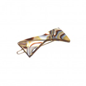 Small size bow shape hair clip in Onyx