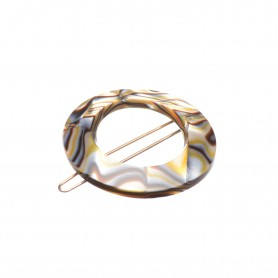 Small size round shape hair clip in Onyx