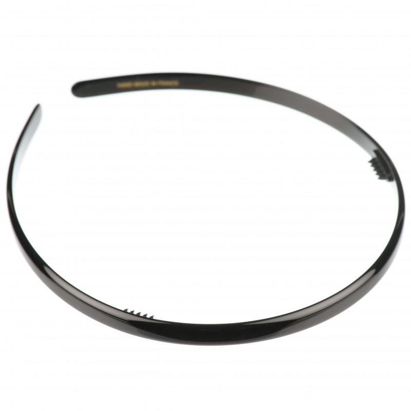 Medium size regular shape Headband in Black shiny finish