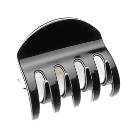 Medium size regular shape hair claw clip in Black and White