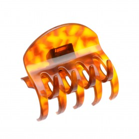 Medium size regular shape hair jaw clip in Dark Tortoise shell