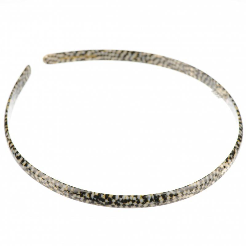 Medium size regular shape Headband in Opera shiny finish