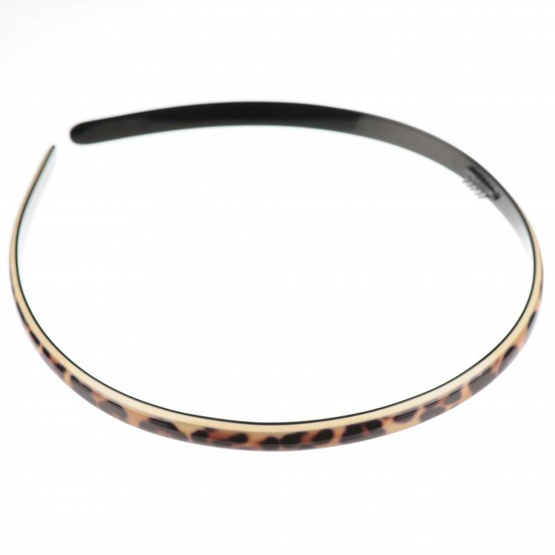 Medium size regular shape Headband in Leopard shiny finish