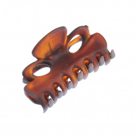 Small size regular shape Hair jaw clip in Brown