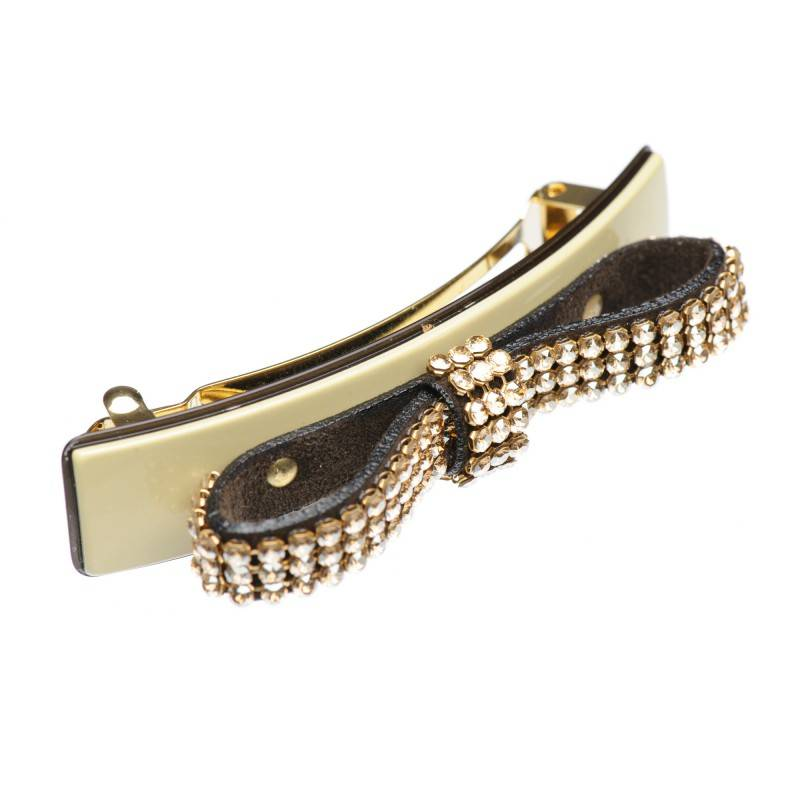 Hair Barrettes Decorated with Swarovski Crystals