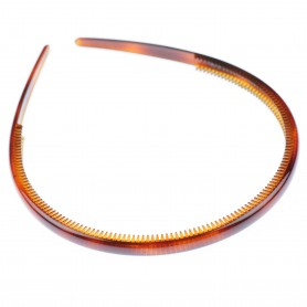 Medium size regular shape Headband in Brown