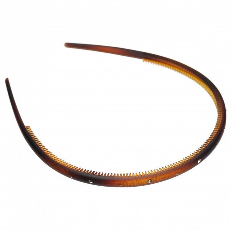 Medium size regular shape Headband in Brown matte finish