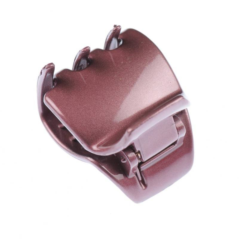 Small size regular shape Hair jaw clip in Red shiny finish