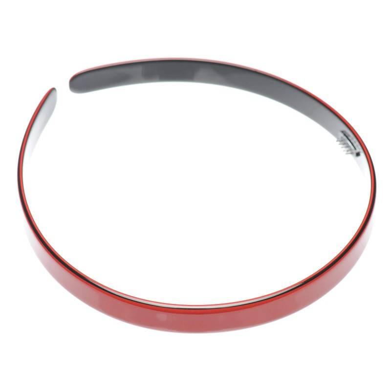 Medium size regular shape Headband in Marlboro red and black shiny finish