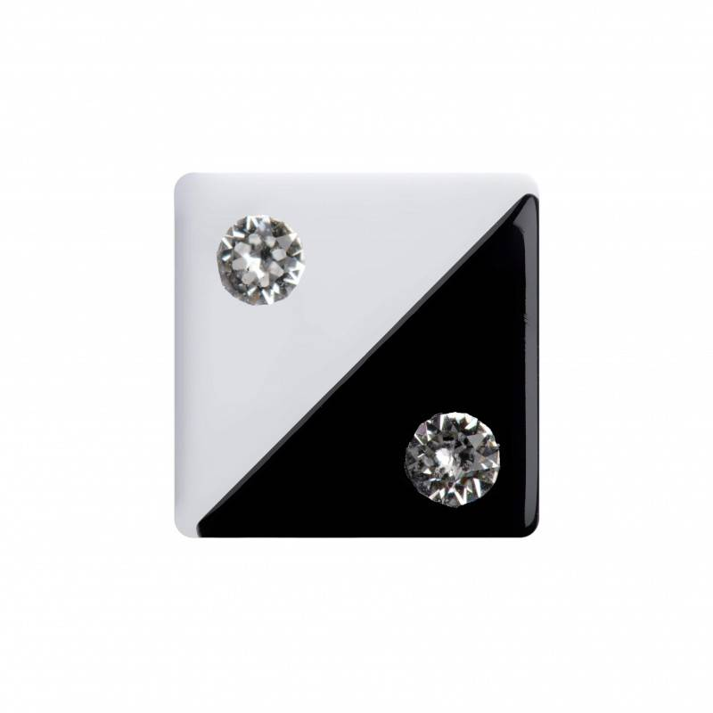 "Healthy fashion earring (1 pcs.) ""Square Yin"""