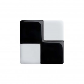 "Healthy fashion earring (1 pcs.) ""Foursquare Black"""