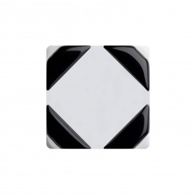 "Healthy fashion earring (1 pcs.) ""Black Parallelogram"""