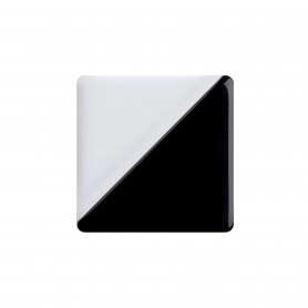 Medium size square shape Metal free earring in Black and white