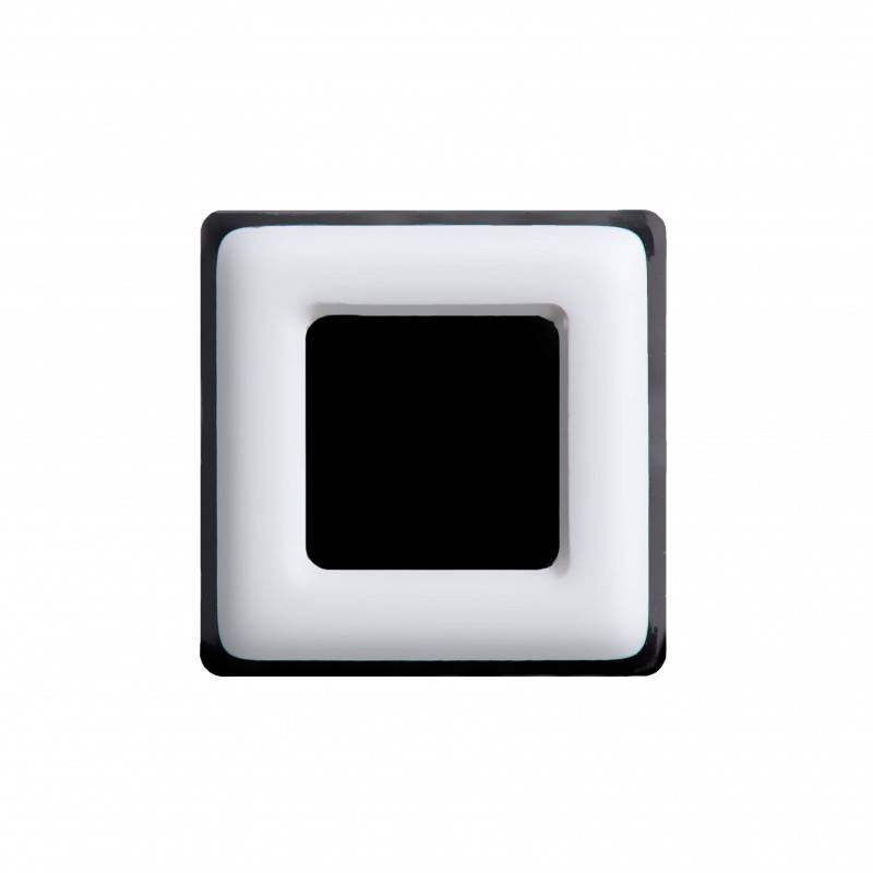 Medium size square shape Metal free earring in White and black shiny finish