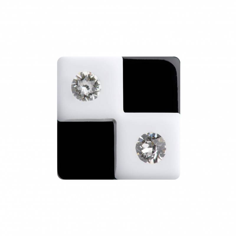 "Healthy fashion earring (1 pcs.) ""Light Chessboard"""