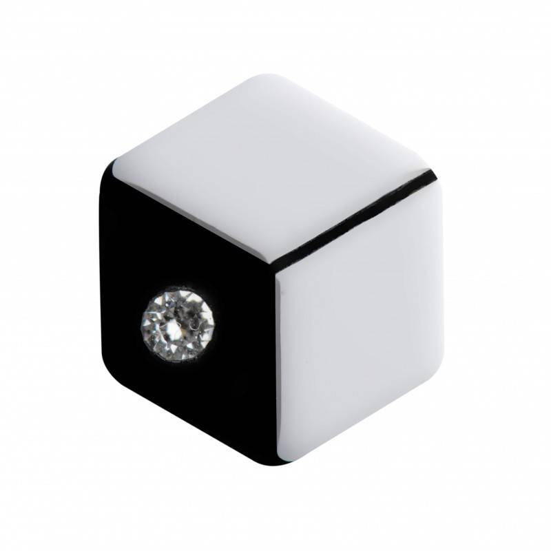 Medium size hexagon shape Metal free earring in White and black shiny finish