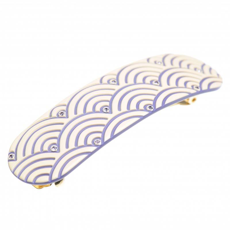 "French Made Hairclip ""Shimmering Violet"""