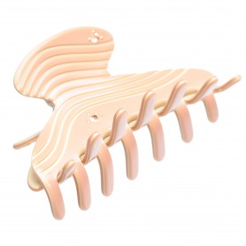 Medium size regular shape Hair jaw clip in Old pink and ivory
