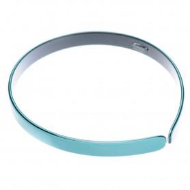 Medium size regular shape Headband in Turquoise and black
