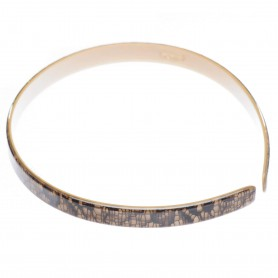 Medium size regular shape Headband in Mixed colour texture