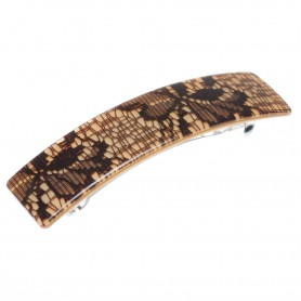 Medium size rectangular shape Hair barrette in Mixed colour texture