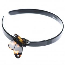 Medium size butterfly shape Headband in Black