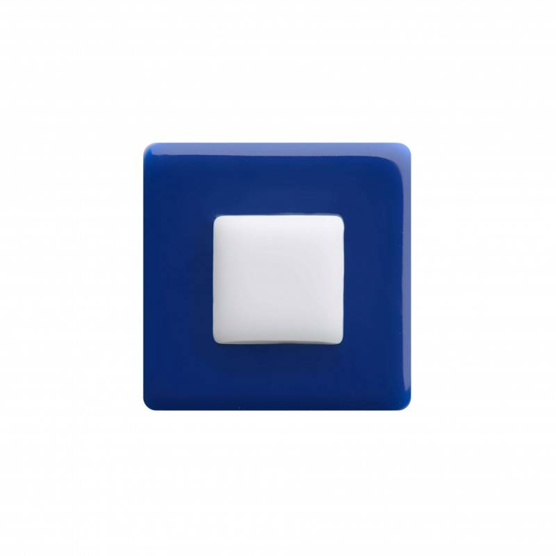 "Healthy fashion earring (1 pcs.) ""White Square"""