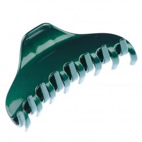 Medium size regular shape Hair jaw clip in Green