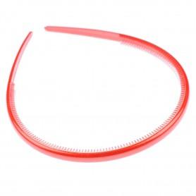 Medium size regular shape Headband in Red
