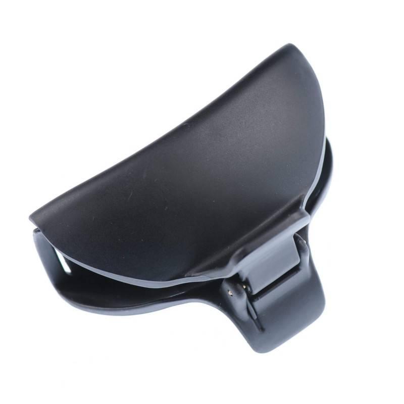 Medium size regular shape Hair claw clip in Black matte finish