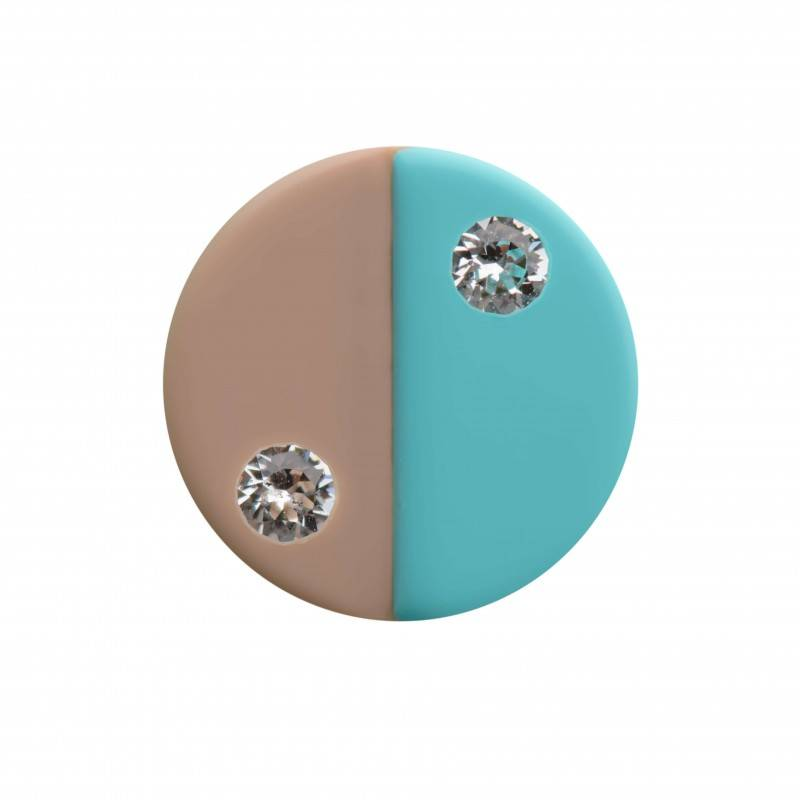 "Healthy fashion earring (1 pcs.) ""Turquoise Symmetry"""