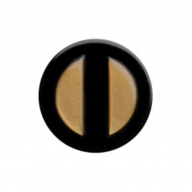 Medium size round shape Metal free earring in Gold and black