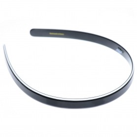 Medium size regular shape Headband in Black and white