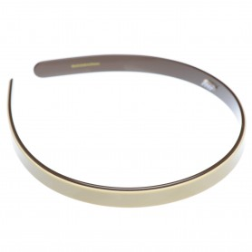 Medium size regular shape Headband in Ivory and black