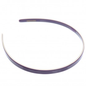 Medium size regular shape Headband in Violet and ivory