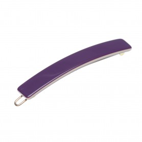 Small size medium length and skinny shape Hair clip in Violet and ivory