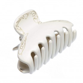 Medium size regular shape Hair jaw clip in White