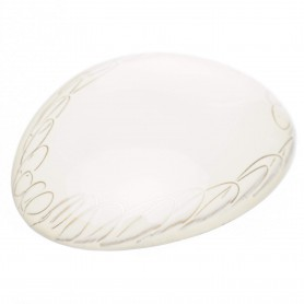 Medium size oval shape Hair barrette in White