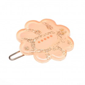 Small size flower shape Hair clip in Pink